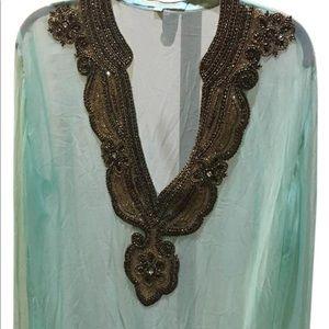 Kareenas Embellished Top/ Swimsuit Cover Up